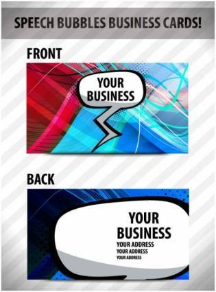 free vector Brilliant dynamic business card template 03 vector