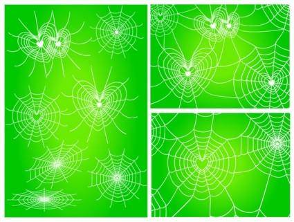 free vector Diverse spider web love vector network