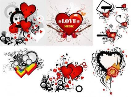 Valentine\u0026#39;s day heart-shaped theme trend vector illustration