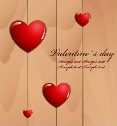 free vector Valentine's Day Love Card Vector
