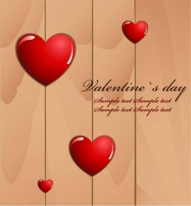 Valentine's Day Love Card Vector