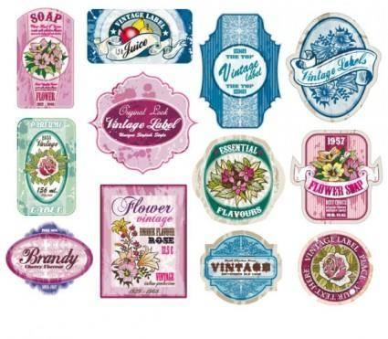 free vector Vintage wine label collection 02 vector