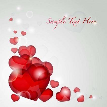 free vector Valentine's Day Heart Card Vector