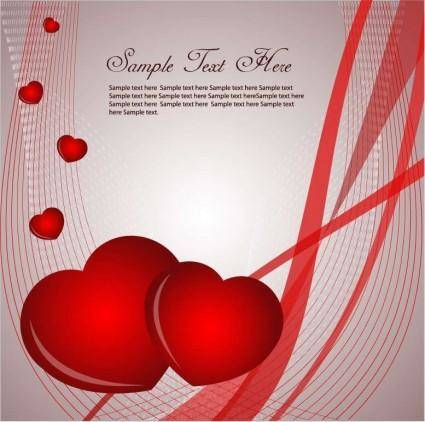 Valentines Card Vector Graphic
