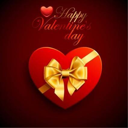 free vector Red Heart Box with Ribbon for Valentine's Day