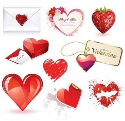 free vector Valentines Day Heart Vector Set