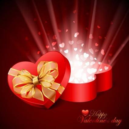 free vector Valentines Day Card Vector Illustration