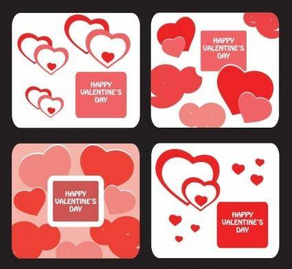 free vector Greeting Card Templates for Valentine Day
