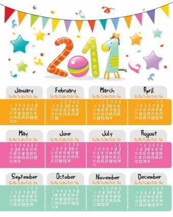 free vector Lovely Style Calendar for 2011 Vector Graphic