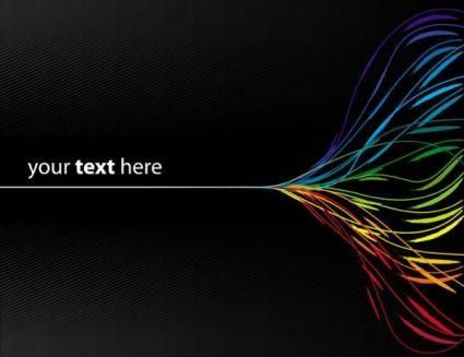 free vector Dynamic color line 02 vector