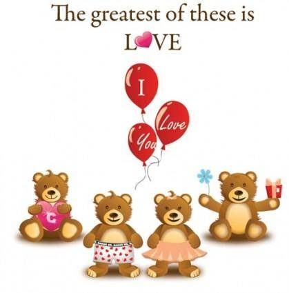 Lovely Teddy Bear Vector Graphic