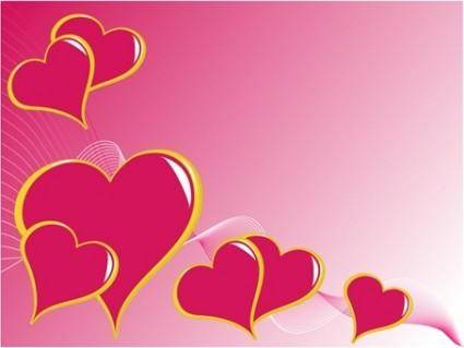 free vector 3 Heart-shaped Vector Graphics