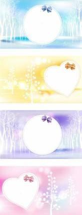 free vector Winter Dreams Love Vector Images