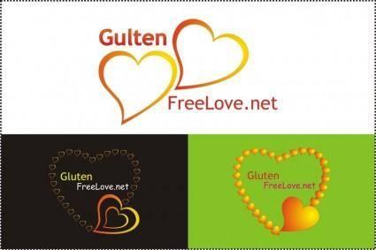 free vector Gloten love logo