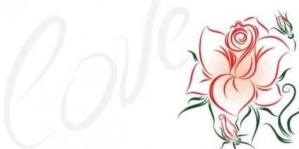 free vector Love and Roses Vectors