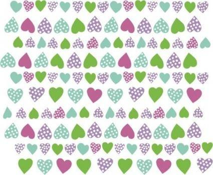 free vector Heart corazones multicolor