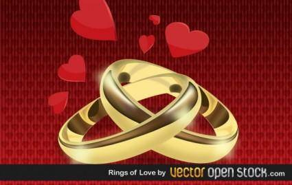free vector Rings Of Love