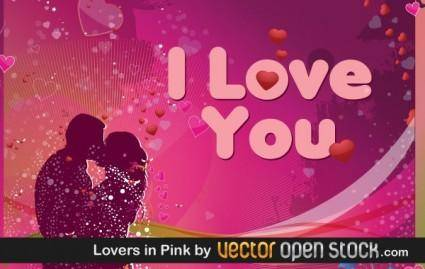 free vector Lovers in Pink