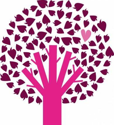 Vector tree with heart