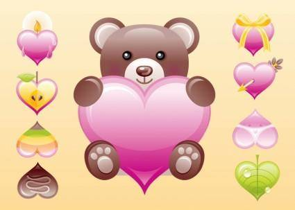 free vector Cute Heart Vectors