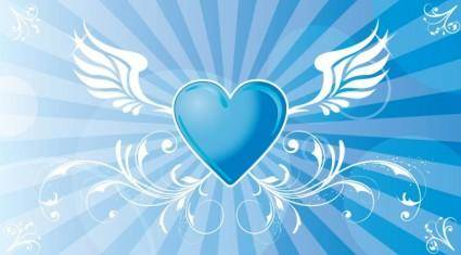 free vector Flying Heart Vector