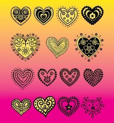 Heart Vector Doodles