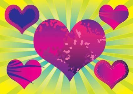 free vector Purple Heart Vectors