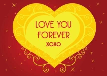 free vector Love Heart Vector Graphics