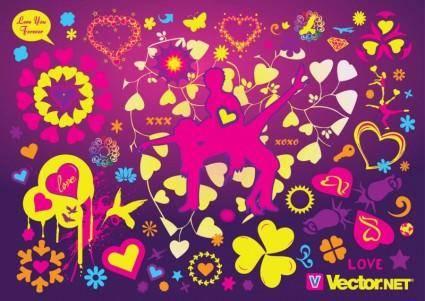 free vector Cool Love Vectors