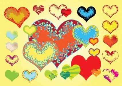 free vector Free Valentine Hearts Vectors
