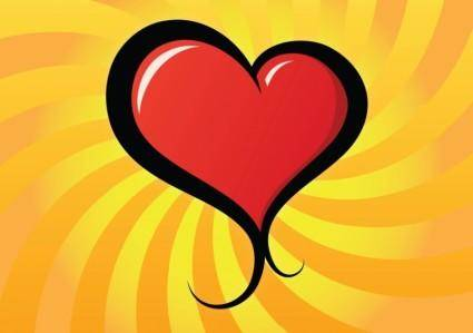 free vector Lovely Heart Vector
