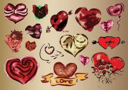 free vector Hearts Vector Art Drawings