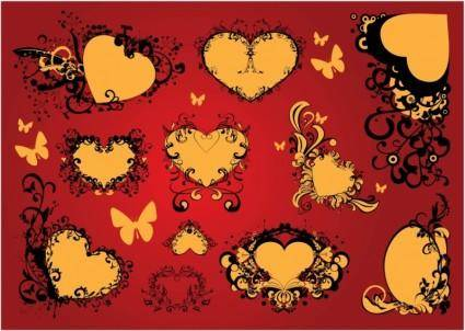 free vector Free Love Heart Vector Art Decoration
