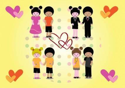 free vector Love Couples Vectors