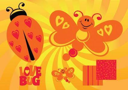 free vector Love Butterfly