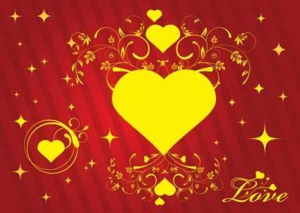 free vector Love Card Vector