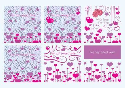 free vector Valentine Card Vectors