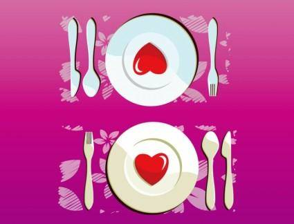 free vector Lovely Dinner