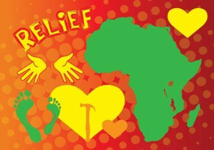 free vector Heart for Africa