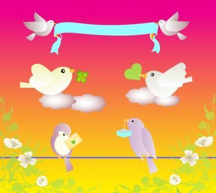 free vector Birds Love
