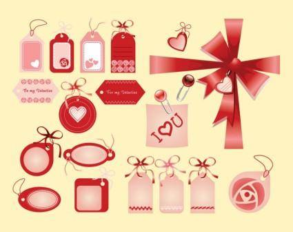 free vector Valentine Love Tags