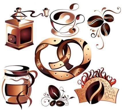 free vector Fine coffee element 02 vector
