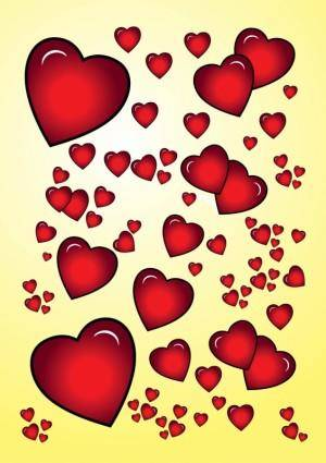 free vector Red Hearts