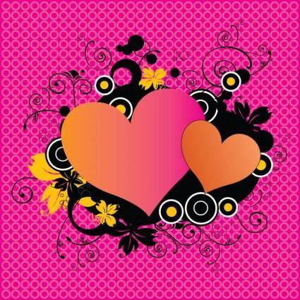 free vector Love Hearts