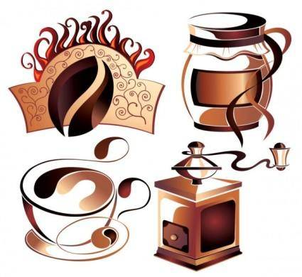 Fine coffee element 03 vector