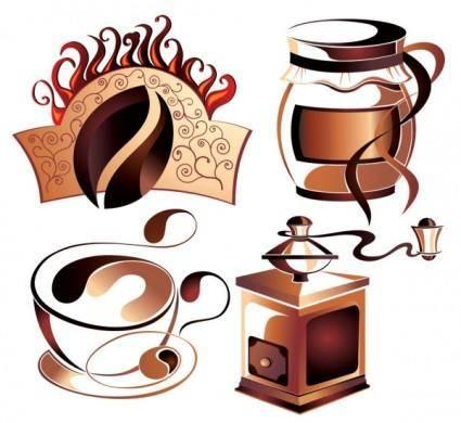 free vector Fine coffee element 03 vector