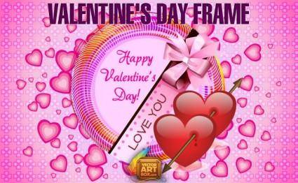 free vector Valentines Day Frame