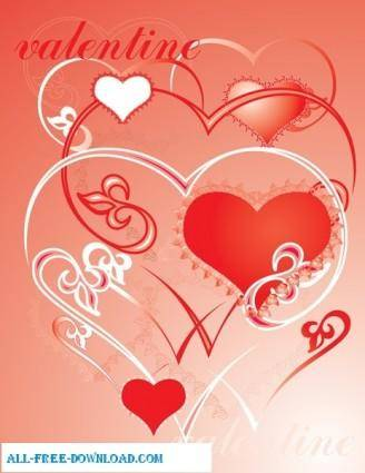 free vector Valentines day love ornament