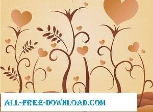 free vector Hearths Swirls Vectors