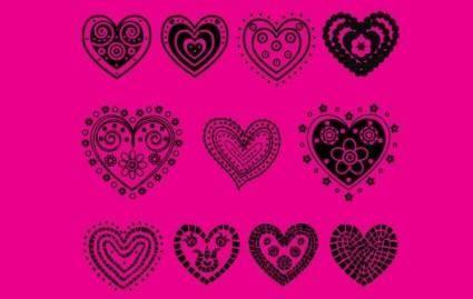 free vector Hearts